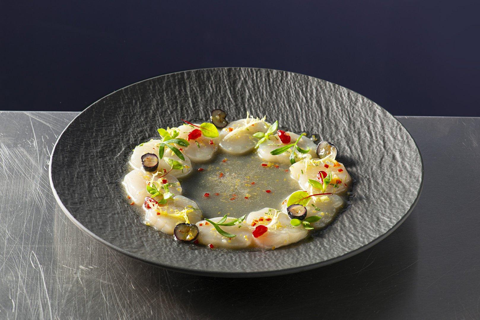 Ceviche marinade voor Coquilles op basis van Maître Cuisine de Poisson