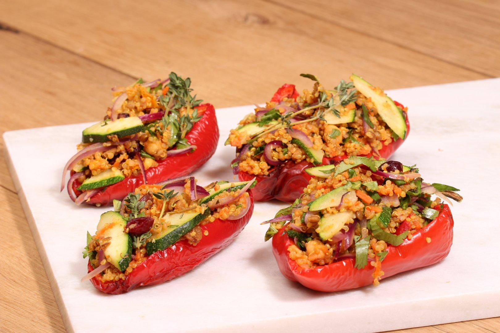Gevulde paprika van Quinoa