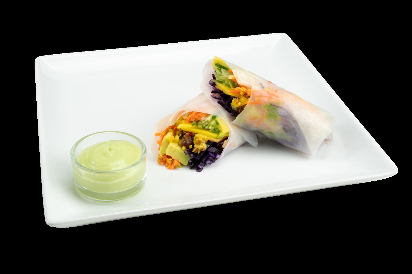 Springrolls met Wasabi Saus