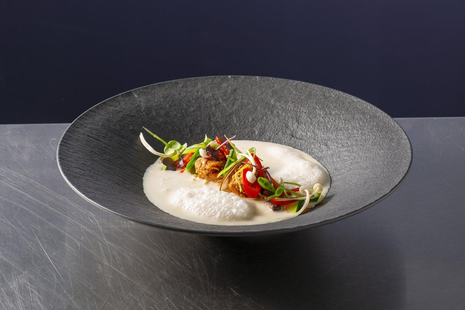 Tom Kha Kai soep op basis van Maître Cuisine Glace de volaille & Canard